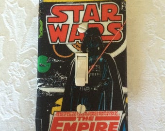 Star Wars Gift, Darth Vader Light Switch Plate Cover, Switch Plate Covers, Star Wars Switch Plate, Star Wars Switchplate, Star Wars Decor