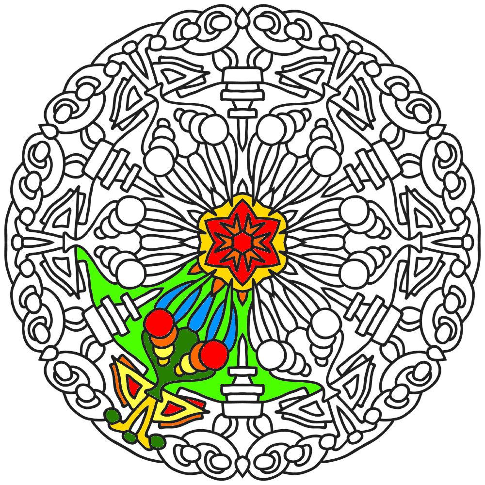 Item 9 Mandala Coloring Page Printable Instant Download Adult