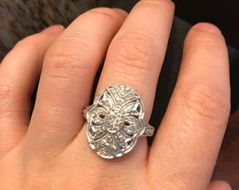 Diamond Art Deco Ring