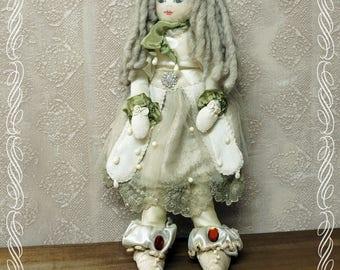 Doll, Art Fabric doll 05, Luxury art doll, handmade, fabric doll, unique