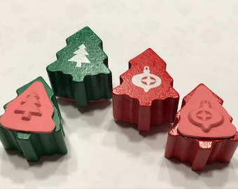 set of Tree and Ornament stamps, 12 mm (BB1/3)