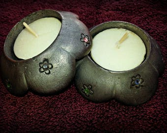 Pewter candle holders, pewter tea lights, pewter figurines, pewter crystals, pewter lights, pewter