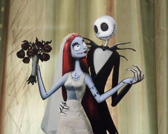 Jack & Sally Wedding Cake Topper