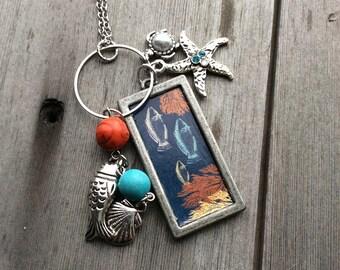 Seaside Necklace/Long Necklace/Nautical/Boho