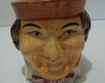 Vintage Occupied Japan Toby Mug Man's Face