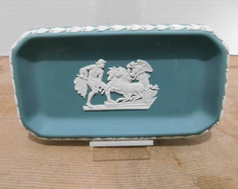 Vintage Wedgwood Japerware Green Tray
