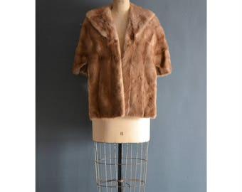 60s mink cape / vintage bridal stole