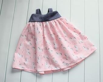Baby Girl dress - Baby Dreams Dress - Girls Summer Dress - Pink and Blue Dress - Girls Dresses - Girls Sundress - READY TO SHIP - Hattie