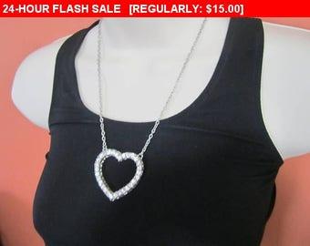 Pretty Rhinestone pendant necklace, estate jewelry, wedding, formal