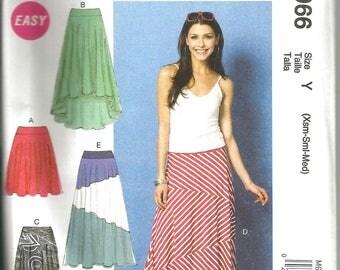 McCalls 6966 new uncut size X small - medium womans pieces knit skirt