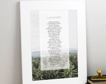 Gift for Grandad - Personalised Poem Gift For Grandad Or Grandpa - Typographic Poem Print - Father's Day Gift