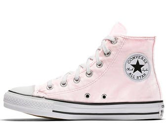 Pink Velvet Converse Chuck Taylor Blush Crush High Top w/ Custom Swarovski Crystal Jewel Bling Rhinestones Wedding All Star Sneakers Shoes
