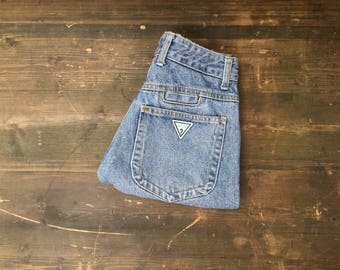 Guess Jeans Hemmed Cut Off Shorts