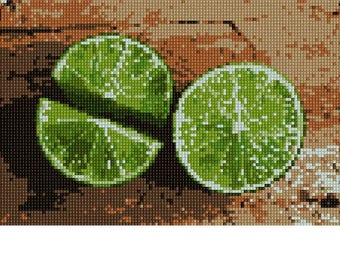 Needlepoint Kit or Canvas: Limes