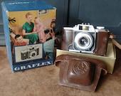 Vintage Camera, Graflex, Original box, case, 35mm, photography, craft supplies, collectible