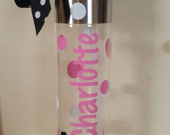 Personalized 24 oz. Clear Tritan Plastic Water Bottle