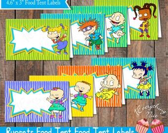 Rugrats Food Tent Labels Instant Digital Download
