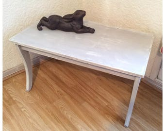 Rustic Reclaimed Dove Gray Coffee Table
