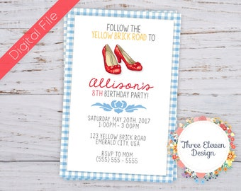 Red Shoes Printable Birthday Invitation