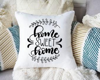 Home Sweet Home Pillow Cover - Custom Pillow Case - Realtor Gift - Decorative Pillow Cover - Custom Wedding Gift  - Housewarming Gift