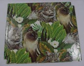 Vintage Gift Wrap, Vintage Wrapping Paper, CAT Giftwrap