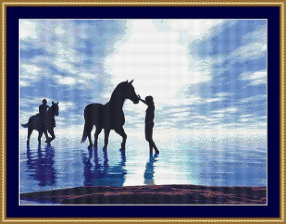 Horses Cross Stitch Pattern /Digital PDF Files /Instant downloadable
