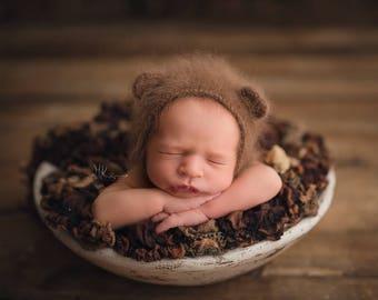 Newborn Patchwork Layer, Soft Textured Layer, Newborn Basket Stuffer, Newborn Layering Fabric, RTS - Tan/Brown and Blue/Grey