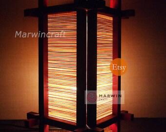 Limited No Screw Design Asian Oriental Japanese Doji Zen Art Bedside Floor Table Lamp Desk Paper Light Shades Living Bedroom Gift Home Decor