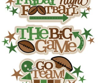 Football Die cuts, Scrapbook, Scrapbooking, Scrapbook die cuts, Die cuts, Scrapbook embellishments, scrapbook die cuts, Scrapbook supplies
