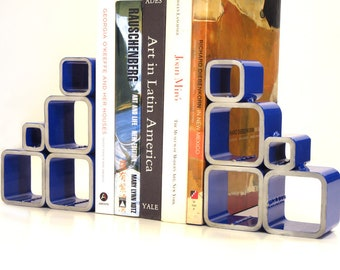 Big Blue Bookends-Steel