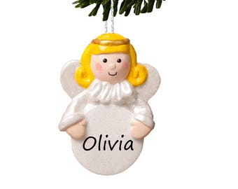 Personalised Christmas Angel, Tree Decoration, Guardian Angel - Fair Hair by Truly for You