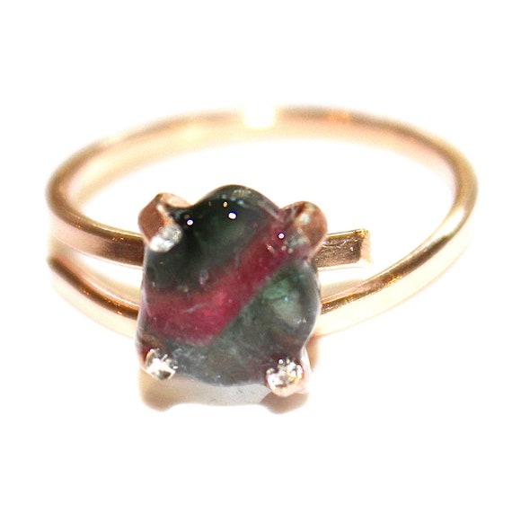Tiny Watermelon Tourmaline Ring