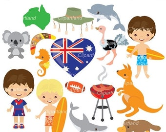 ON SALE INSTANT Download. Ca_1_Australia. Australia clip art. Personal and commercial use.