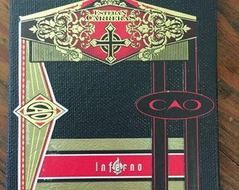2017 Cigar Band Collage Coaster: Carreras CAO Inferno