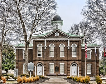 Loudon TN Tennessee Courthouse Art Photo Print Americana American Town