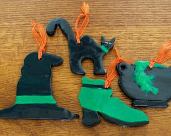 Witching Hour Halloween Ornament Collection