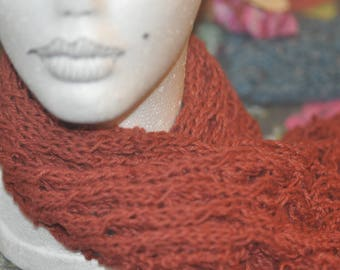 Cabled Cotton scarf