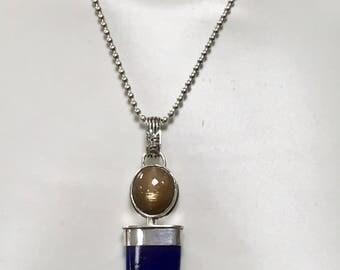 Lapis and Sunstone Pendant
