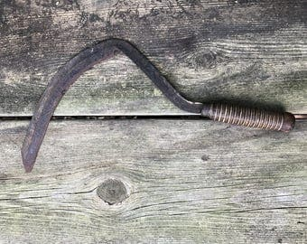 Sickle Sling Blade - Corn Knife - Hand Scythe Steel with Wood Handle