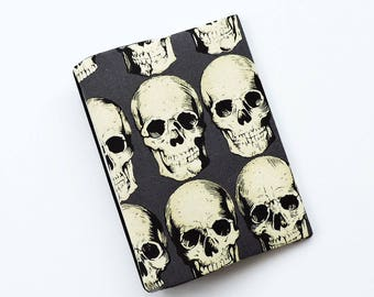 A6 Hobonichi Techo Cover skull print. Planner cover. Notebook cover. Book jacket.
