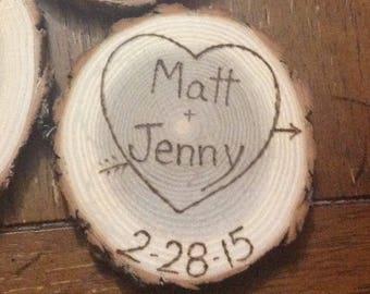 100 Rustic wedding favor magnets barn wedding country favors true love bridal shower favors