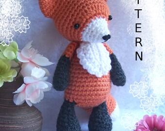 Crochet Amigurumi Pattern Seamless Fox/One-Piece Fox-Amigurumi Pattern Fox-DIY Crochet Fox-Stuffed Toy Animal-Crochet Fox Tutorial- Fox