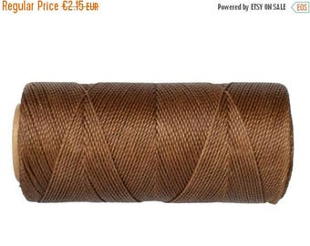ON SALE Waxed Cord, Macrame Jewelry Cord, 15 meters/16 yards, Waxed Thread Linhasita cor 362, Knotting String - Iced Coffee