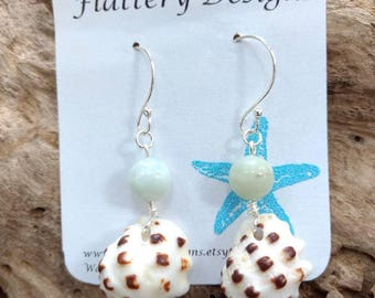 Hawaiian Drupe Shell Earrings