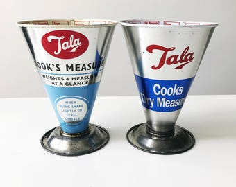 REDUCED Set of 2 Vintage Tala Cook's Dry Measures