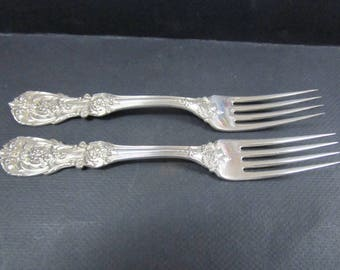 two Reed & Barton Francis I Sterling Silver Dinner Fork