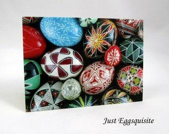 Set of 3 Pysanky Ukrainian Egg Blank 3 x 5 Folded Note Cards Original Pysanky
