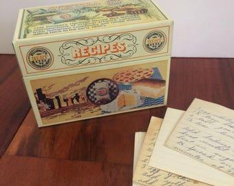 Pillsbury's Best recipe box, metal recipe tin, Pillsbury