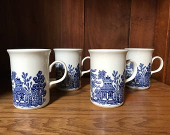 Vintage Set (4) Churchill England Mugs