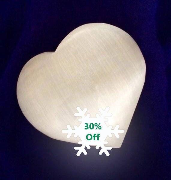 Selenite Hearts, Palm Stone, Specimen, Reiki, Crystal Healing, Meditation, Large Selenite Stone, Gemstone Carving, Wedding Gifts, Pets